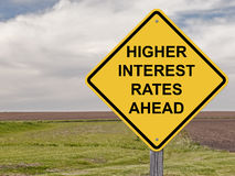 Caution - Higher Interest Rates Ahead Royalty Free Stock Photos