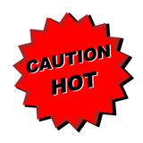 Caution hot sign royalty free stock photography