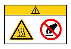 Free Caution Hot Surface Do Not Touch Symbol Sign, Vector Illustration, Isolate On White Background Label. EPS10 Royalty Free Stock Images - 167251339
