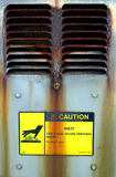 Caution hot vent. A hot rusty vent Stock Photography
