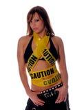 Caution Hottie! Royalty Free Stock Photos