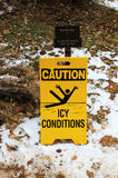 Caution ice conditions Stock Images