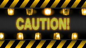 Caution - Industrial Barricade Warning Lights