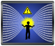 Caution Information Overload Stock Images