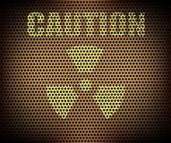Caution label abstract background Royalty Free Stock Photography