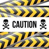 Caution label Royalty Free Stock Photos