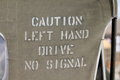 Caution Left Hand Drive No Signal Royalty Free Stock Photo