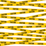 Caution Line Royalty Free Stock Images