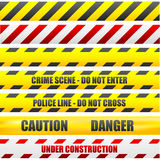 Caution lines. Illustration of different caution lines Royalty Free Illustration