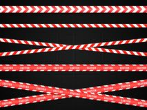Caution lines . Warning tapes. Danger signs. Vector Royalty Free Stock Images