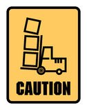 Caution Look Out For Forklifts label or sign Stock Photo