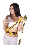 Caution looking at chocolate Royalty Free Stock Photo
