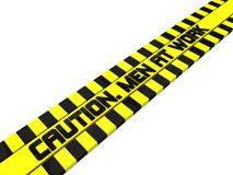 Caution men at work Royalty Free Stock Photo