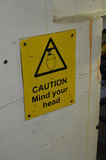 Caution mind your head sign. Stock Photo