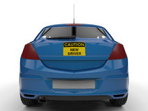 Caution new driver - back view Stock Photos
