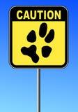 Caution no pets Stock Image