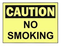 Caution No Smoking Stock Photography