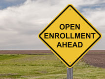 Caution - Open Enrollment Ahead Stock Images