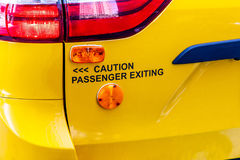 Caution, passenger exiting Royalty Free Stock Photography