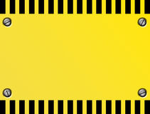 Caution  Plate Stock Images