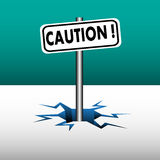 Caution plate Royalty Free Stock Photos