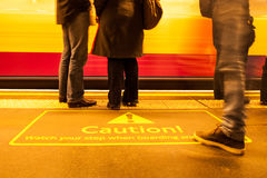 Caution. Please watch your step Royalty Free Stock Photos