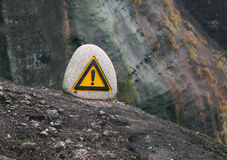 Caution! precipice! Royalty Free Stock Image