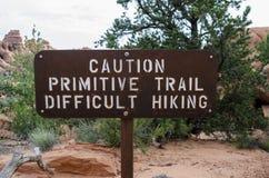 Caution Primitive Trail Royalty Free Stock Photo