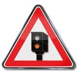 Caution radar and lightning Stock Photo