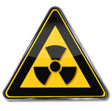 Caution radiation. Caution radioactive substances and radiation Stock Photography