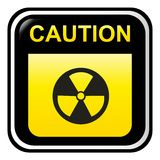 Caution - radioactive Stock Image