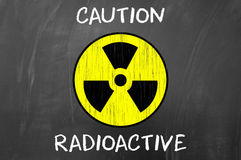 Caution Radioactive Symbol Stock Photography