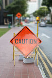 Caution Road Street Sign Royalty Free Stock Photo