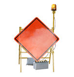 Caution road street sign Stock Photography