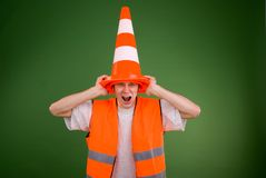 Caution! Road works! Royalty Free Stock Photography