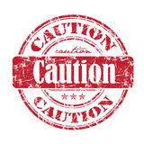 Caution rubber stamp Royalty Free Stock Photos