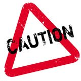 Caution rubber stamp Royalty Free Stock Image