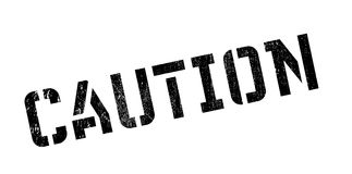 Caution rubber stamp Royalty Free Stock Photography