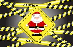 Caution - Santa Royalty Free Stock Photography