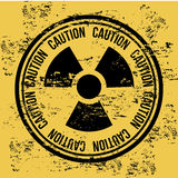 Caution seal Stock Photo