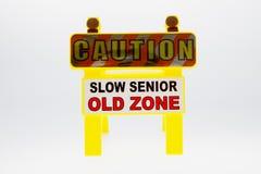 Caution Senior Stock Photography