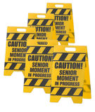 Caution senior moment sign Royalty Free Stock Photos