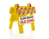 Caution.  Seniors! Stock Images