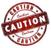 Caution sign Royalty Free Stock Photography