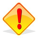 Caution Sign. An illustration of caution  sign Stock Photography