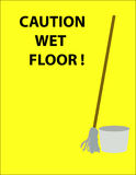 Caution Sign. Caution wet floor sign Royalty Free Stock Photo