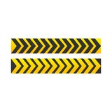 CAUTION sign. arrow yellow and black color. The hazard warning for text and symbols filled royalty free illustration