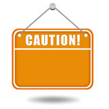 Caution sign board Royalty Free Stock Images