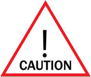 Caution Signs Royalty Free Stock Photo