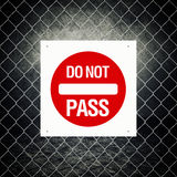 Caution sign - Do not pass Royalty Free Stock Images
